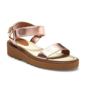 Aquatalia Sandals Shoe Wande 8.5 Rose Gold leather